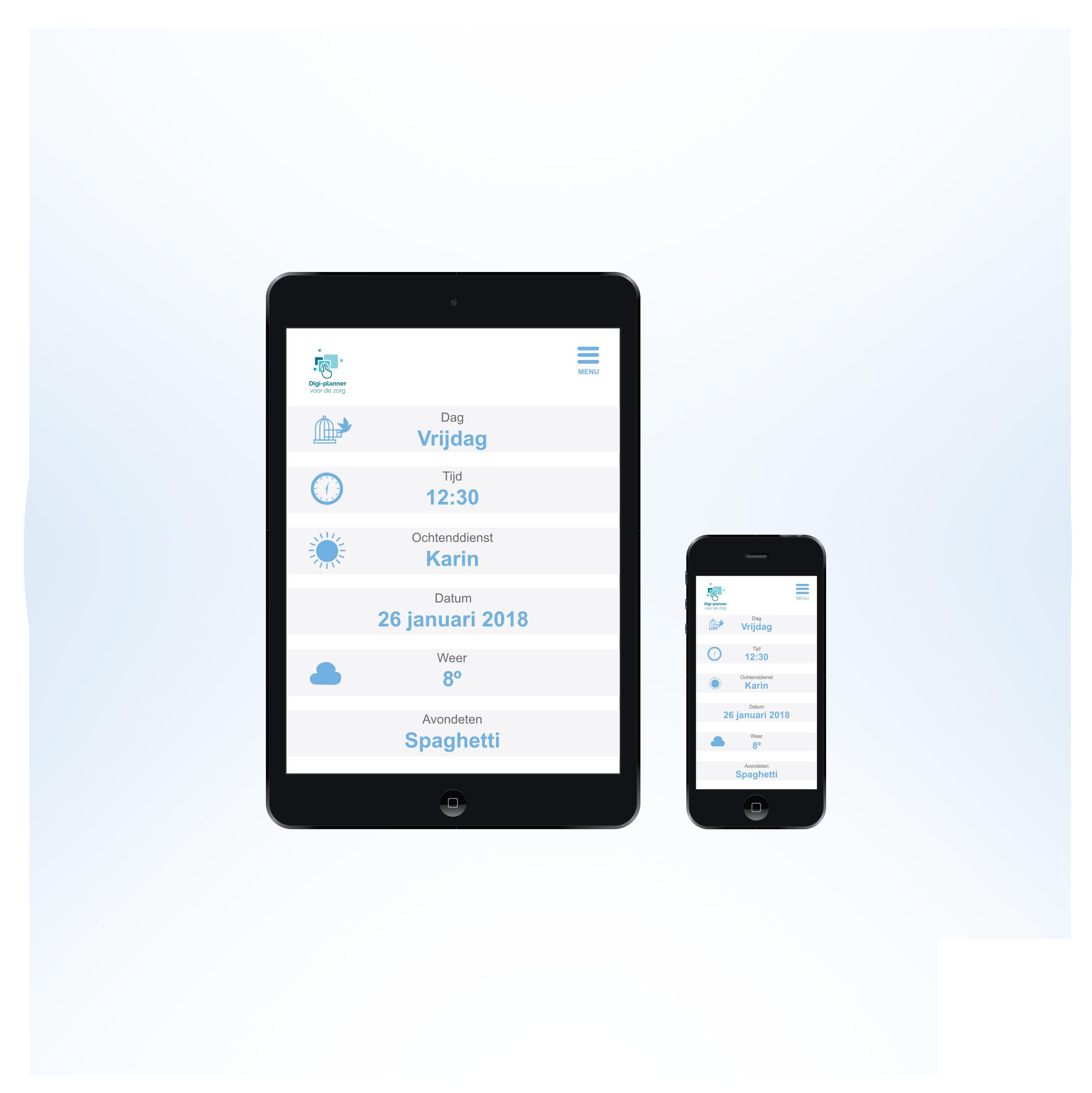 Digitale planner - mobielvriendelijk - responsive - tablet en smartphone